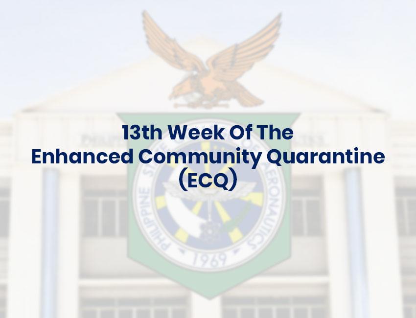 13th Week Of The Enhanced Community Quarantine (ECQ)